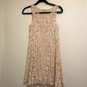 Cream White Lace Dress Free People